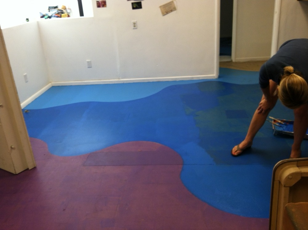 Countdown!!   We are finishing the floor mural this week - yiiippiiieee