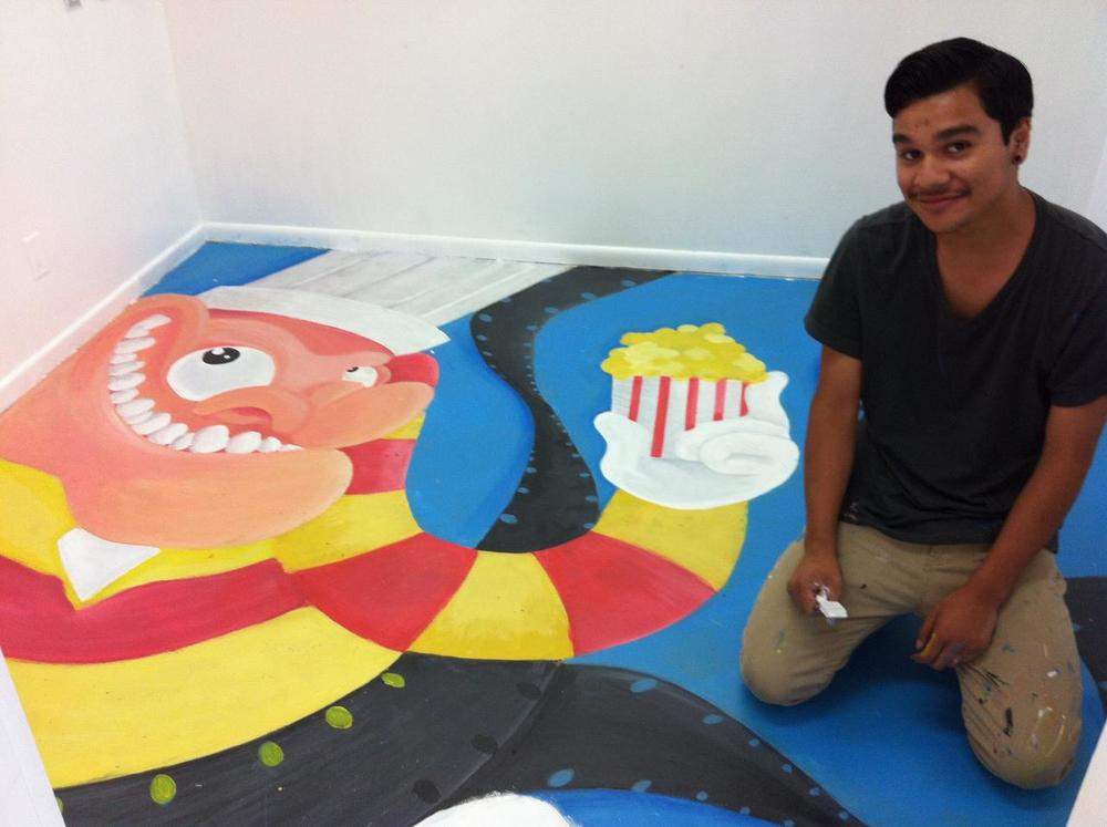 Congratulations Eduardo - what great art work, the perfect floor for our 3D learning Theatre!