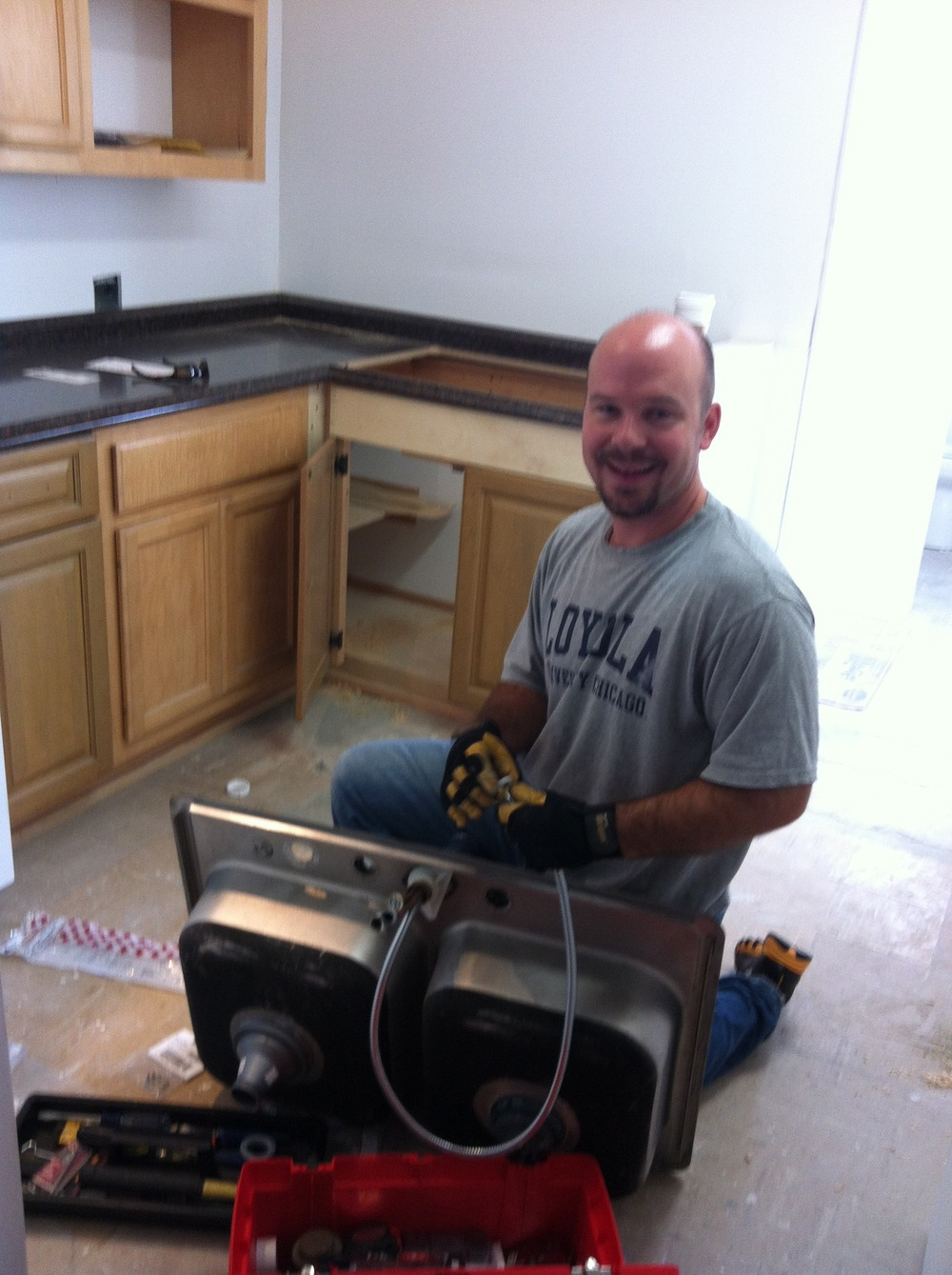 Yippiee - Thanks Jon at Habitat for Humanity SB - our kitchen is almost there !!!!