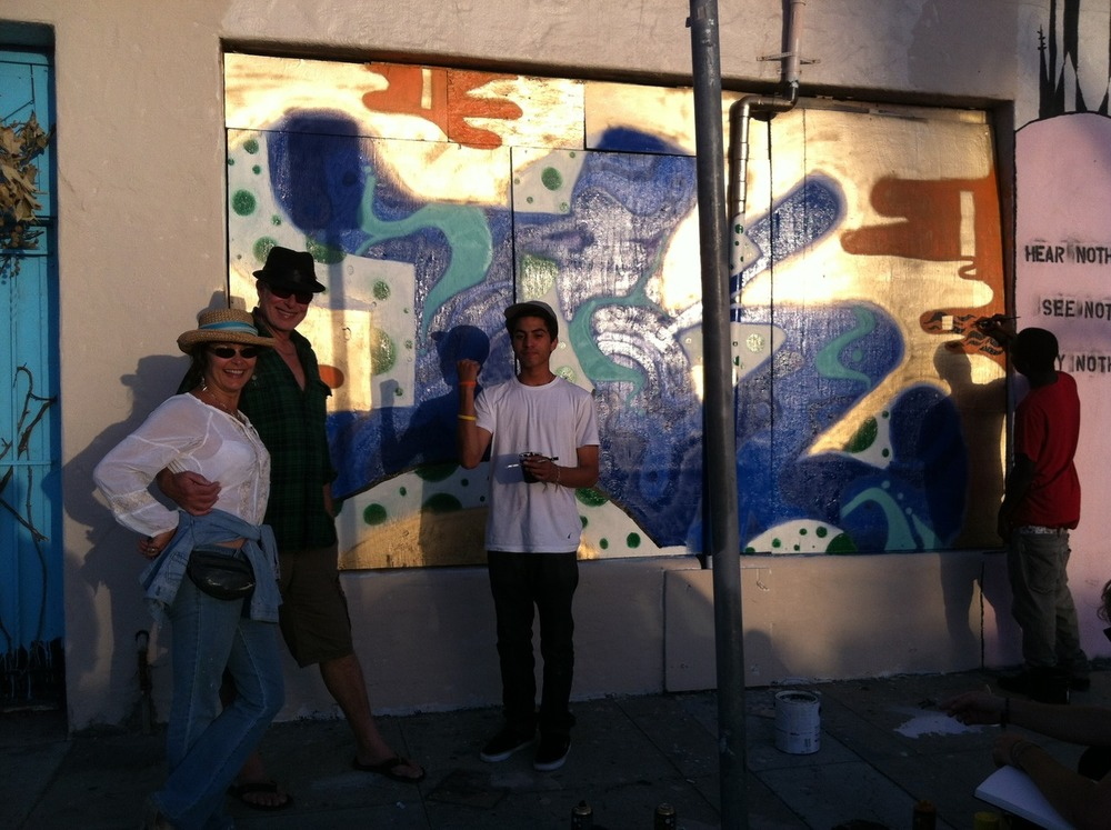 Thanks to Laura Inks, it's all happening in the Funk Zone… Check out the Graffiti Project on Mason Street!