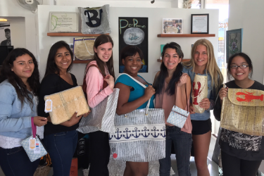 Hello! We are Pier Pressure Designs. PPD is owned and run by a team of teens. We are a business of Youth Interactive and make beautiful bags out of recycled sails donated by SB Yacht Club, and fabric donated by Patagonia and other generous benefactors. Support us on our journey and take our bag along for the ride. Where will your bag travel?