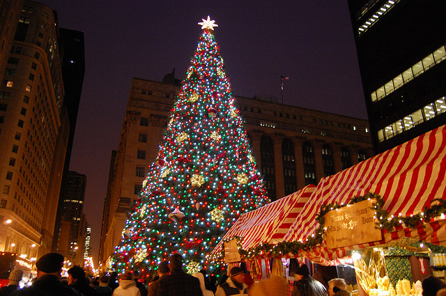 The winters in Chicago may last long, but when the Christmas tree is lit at - Chicago's Christmas Trees & Thanksgiving Meats €� Chicago Italian Beef