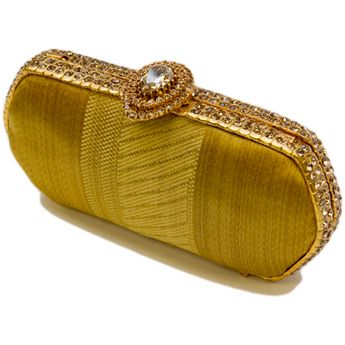 Met Gold Curtain Clutch