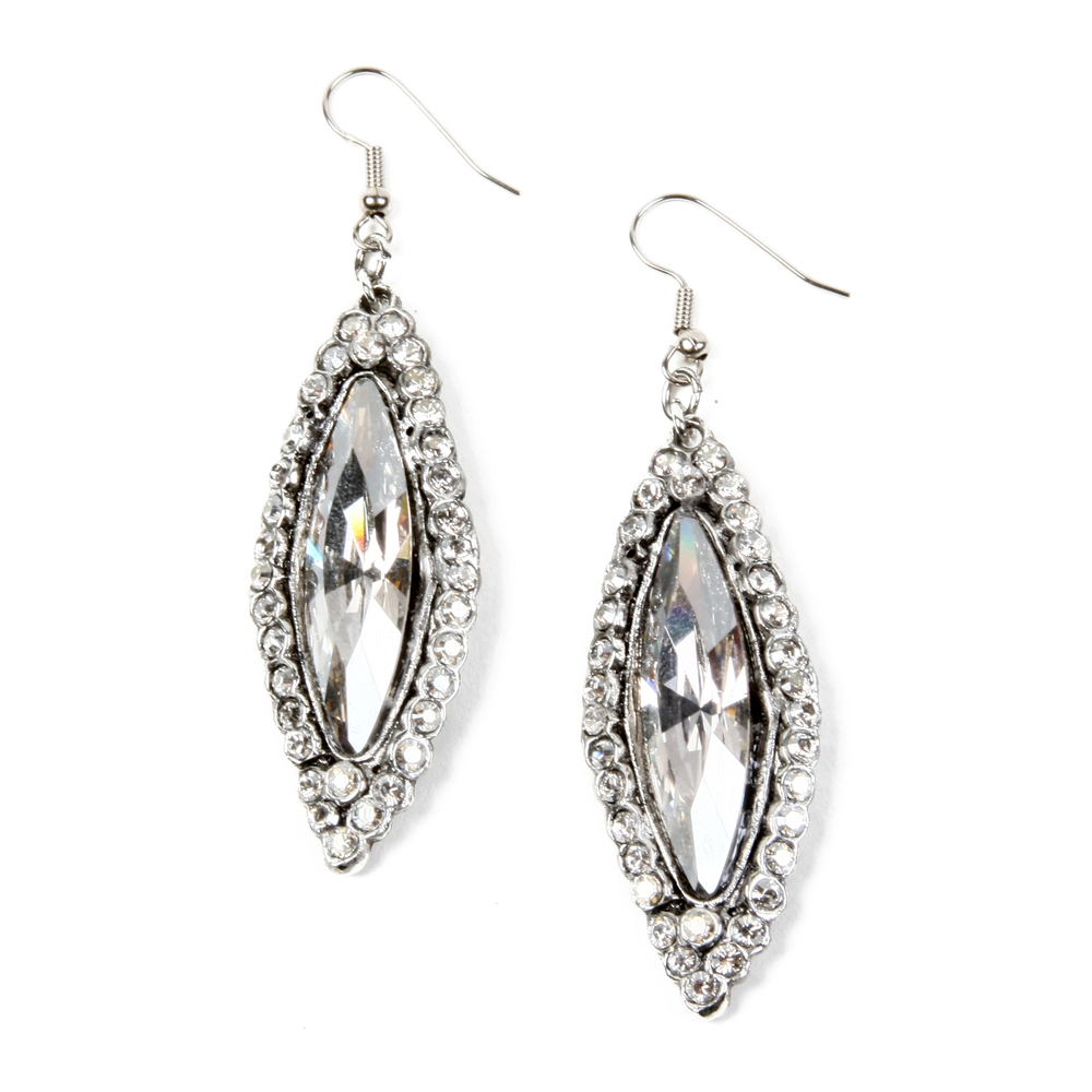 3046E Wire Marquis Earring Antique Silver Silver Shade.JPG