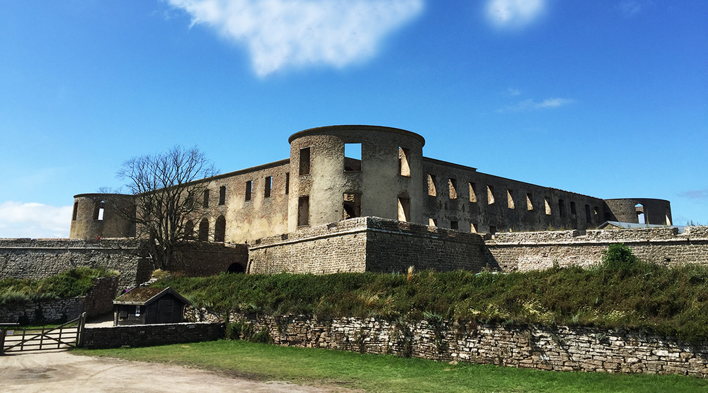 The Castle Ruin (Slottsruinen) in Borgholm, Öland.