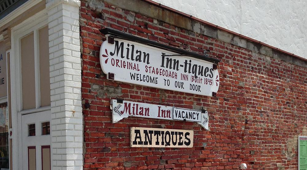 Milan Inn-tiques in Milan Ohio 2013. Good selection. Good storekeeper.