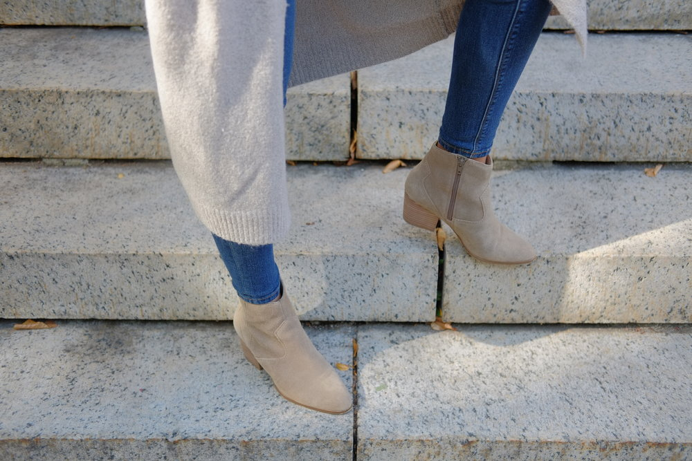 Long cardigan  Forever 21  | Booties  ALDO