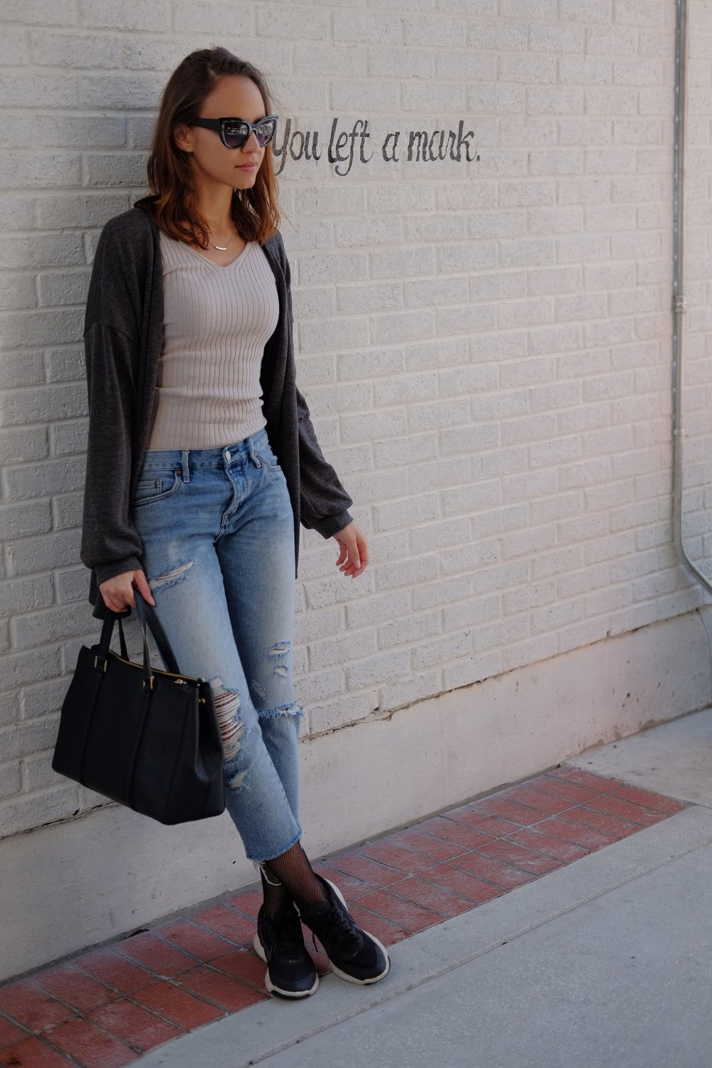Cardigan  American Eagle (I think)  | Top  Express  | Jeans  Pac Sun