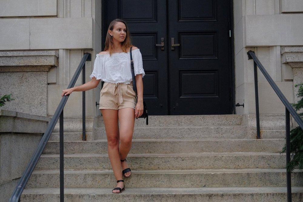 Ruffle waist shorts  H&M