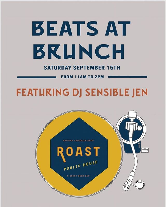 Join us this Saturday for Beats at Brunch. Featuring DJ @sensible_jen Brunch starts at 10 and Beats at 11.  #roast_madison #beatsatbrunch