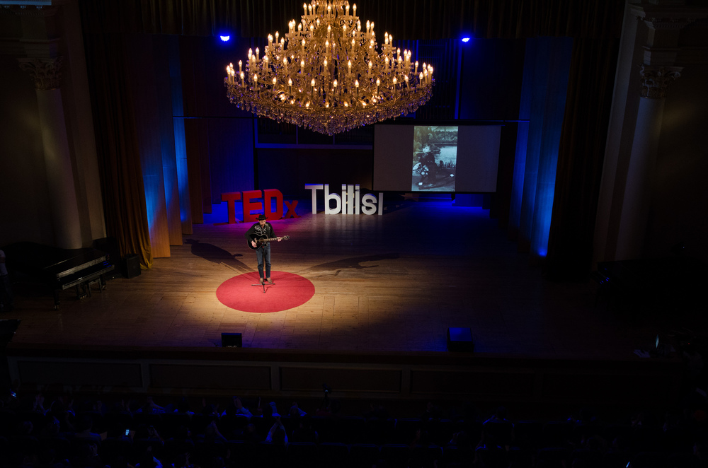 TEDxTbilisi 2016 Speaker Shota Adamishvili                                      Photo: Vladimer Shioshvili