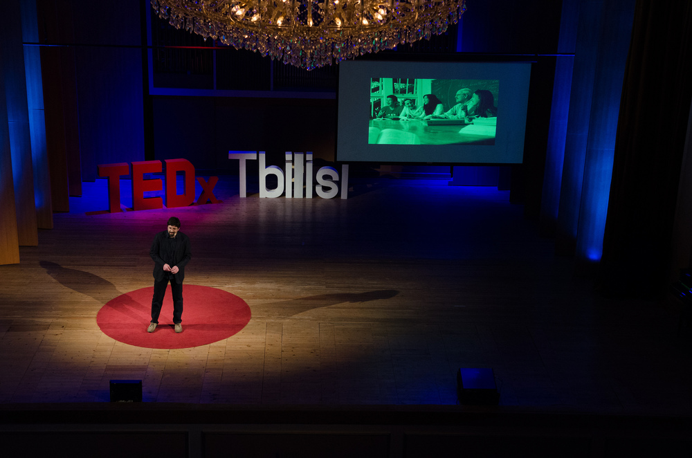 Simon Janashia on Pedagogy of Life, at TEDxTbilisi 2016                                                                                                                                          Photo: Vladimer Shioshvili