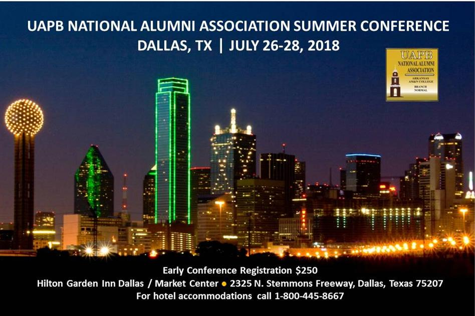 - The Dallas-Ft. Worth Alumni Chapter will host the 29th UAPB/AM&N National Alumni Summer Conference.  The planning team is very excited to welcome you to the BIG