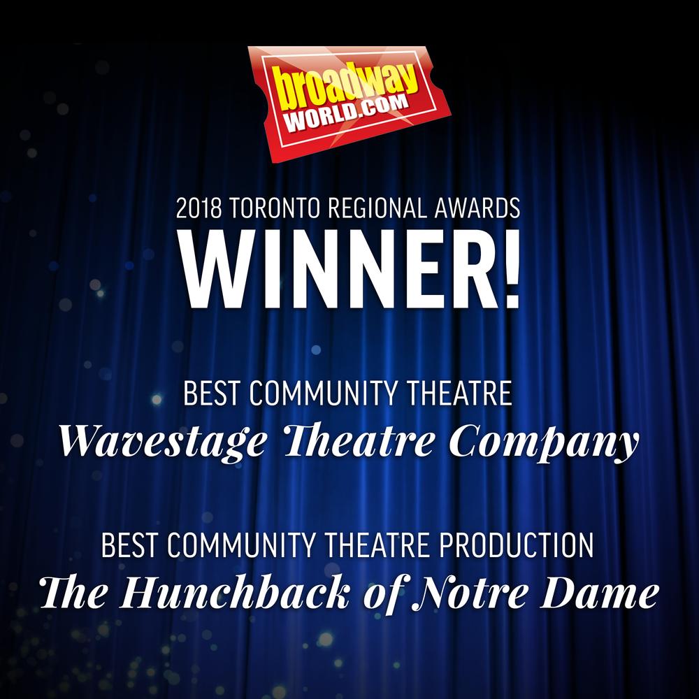 2018 Toronto Best Community Theatre Award