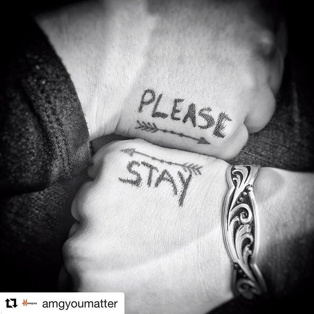 September is #suicideawarenessmonth @amgyoumatter is doing a social media blitz today! Show your support with the words #pleasestay #amasongraceproject