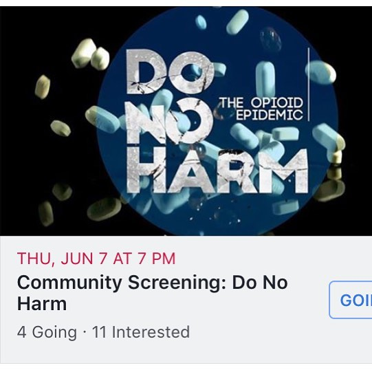 Mark your calendars for June 7th. We are co-hosting this showing of Do No Harm: The Opioid Epidemic. Tickets must be purchased in advance. Link to tickets and fb event in comments. #opioidepidemic #opioidcrisis #loudouncounty #gathr #gathrfilms