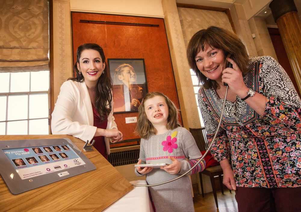 Junior Ministers Emma Pengelly (left) and Jennifer McCann (right) pictured with Olivia Curran (centre) at Parliament Buildings, Stormont in November 2015.