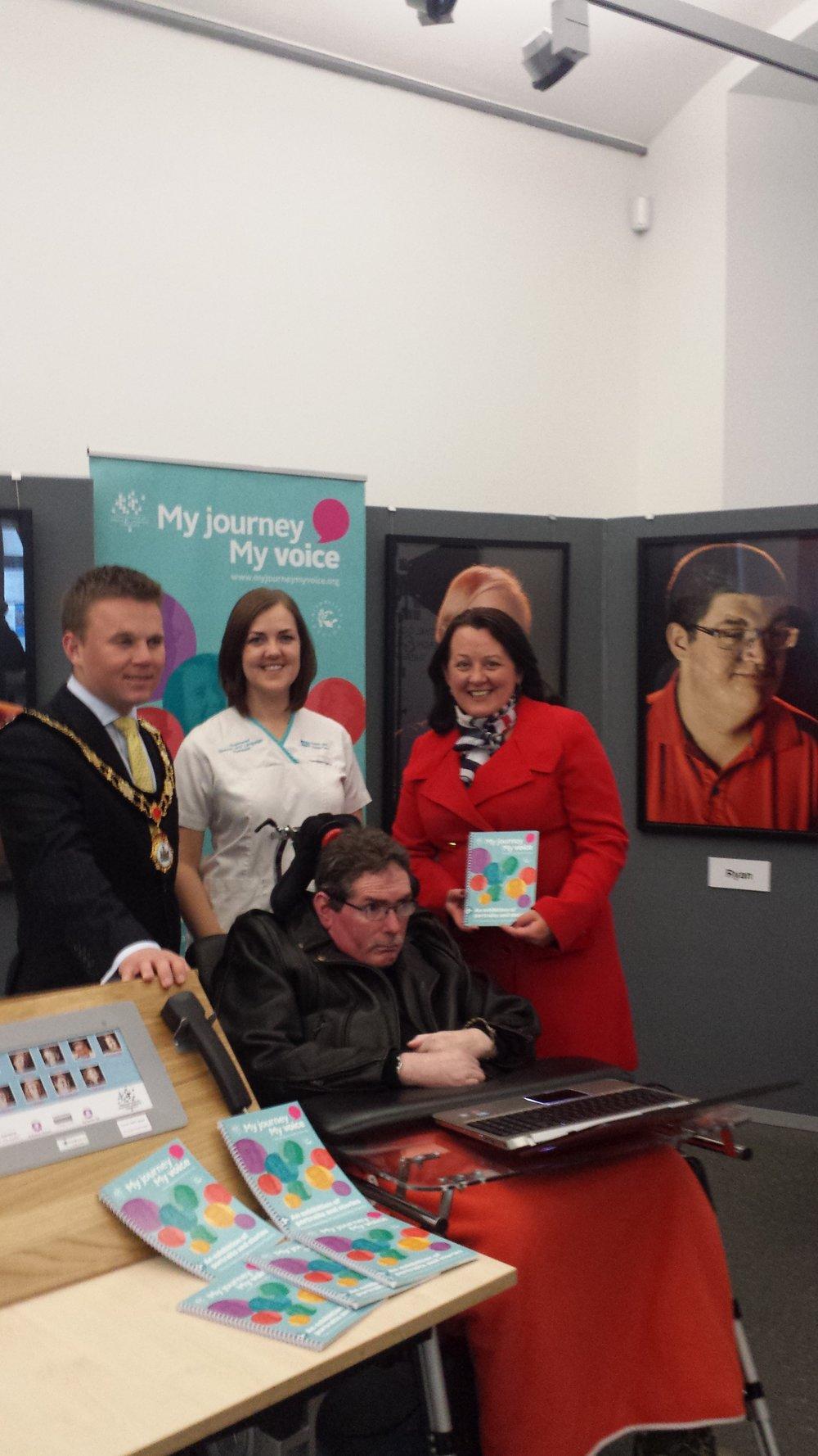 Neill with Paula Bradley MLA, Thomas Hogg, formerly Mayor of Antrim and Newtonabbey and Cathey Magee SLT