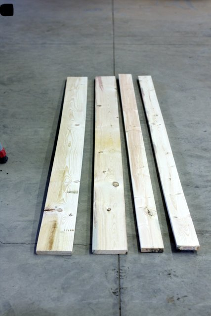 2 - 1x6 boards (8' long) and 2 - 1x4 boards (8' long)