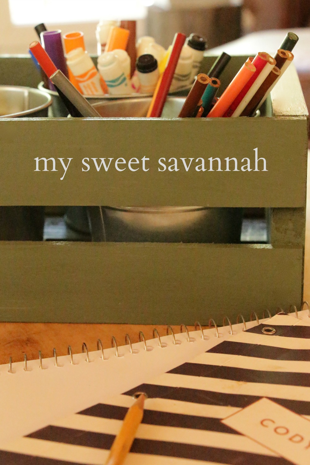 Writing Utensil Caddy by @MySweetSavannah