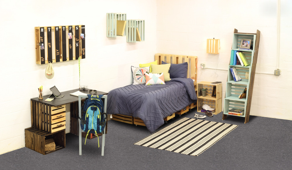Crates Pallet Creates Fun Economical Storage And Decor For The