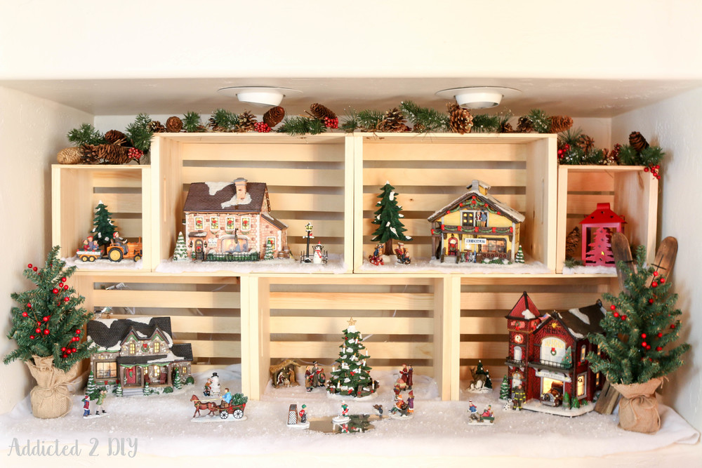 Christmas Village Display By Addicted 2 DIY Crates And