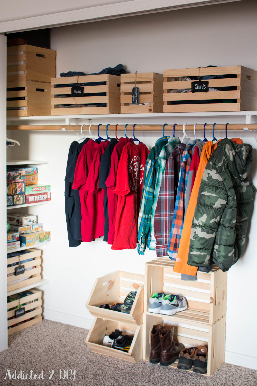 Kids Closet By Addicted 2 Diy Crates And Pallet