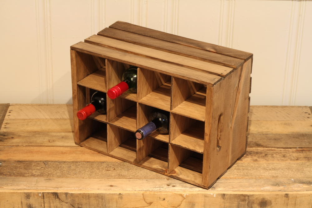Amazing Wine Crates Part - 3: This Easy DIY Wine Bottle Crate Holds Up To 12 Bottles Of Wine, Making It  The Perfect Gift For The Wine Lover On Your List. By Making A Few Simple  Cuts In ...