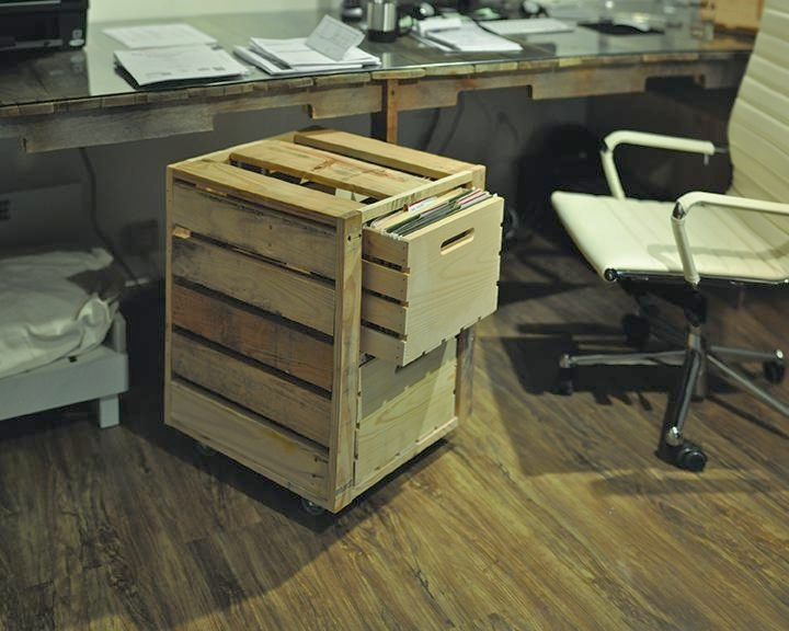 Pictured: Large Crate, Reclaimed Pallet Wood