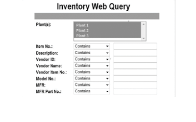 MP2 Add-On Inventory Web Query