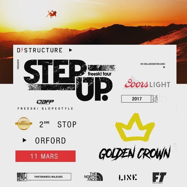 Golden Crown - Step Up Freeski Tour, les 10 et 11 mars prochain. Pour une 11e année, qui mettra son nom sur la couronne ? Today's Park se charge de revamper le Snowpark pour l'occasion avec des nouveaux feature, top2bottom. #lineskis #thenorthface #caissedesjardins #dstructureshop #unionski Dimanche il y aura une compé de Snowboard le dimanche!!! Be there or be square ! #teamofr #illusionboardshop
