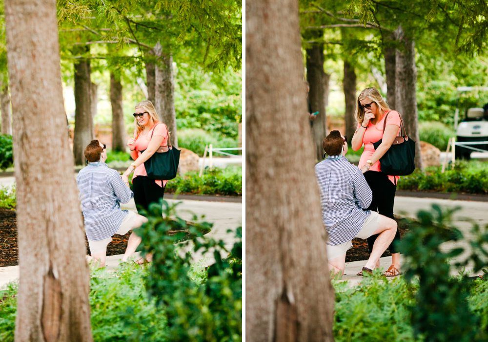Oklahoma City Proposal Photographer Myriad Gardens