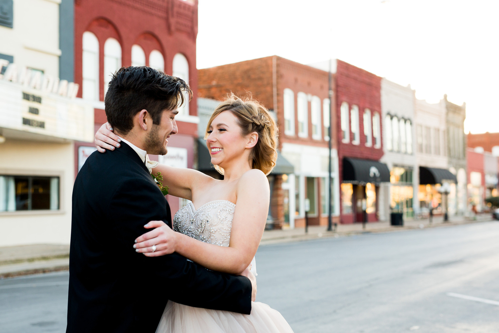 The Grand Canadian Theater OKC Purcell Wedding Venue Ashley Porton Photography Downtown Purcell