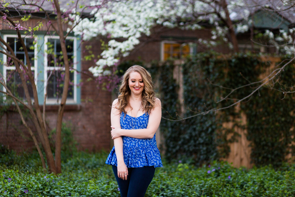 Norman Oklahoma Senior Photographer OKC Oklahoma City Edmond North Norman North Ashley Porton Photography red bud wisteria flowers ouhsc