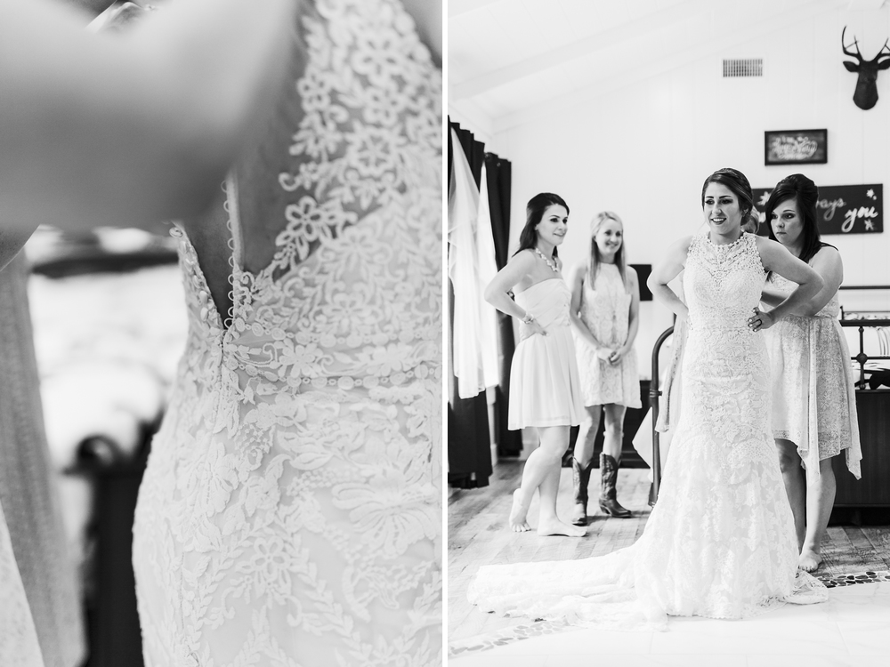 oklahoma wedding photographer pasture at willows ranch getting ready gown broken bow wedding photographer