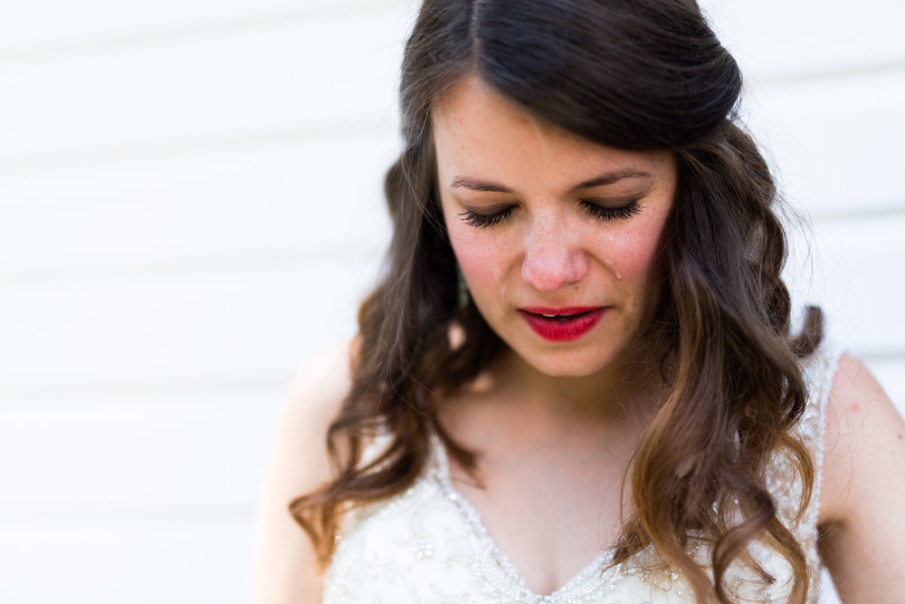 eureka springs wedding photographer thorncrown chapel crying bride tears