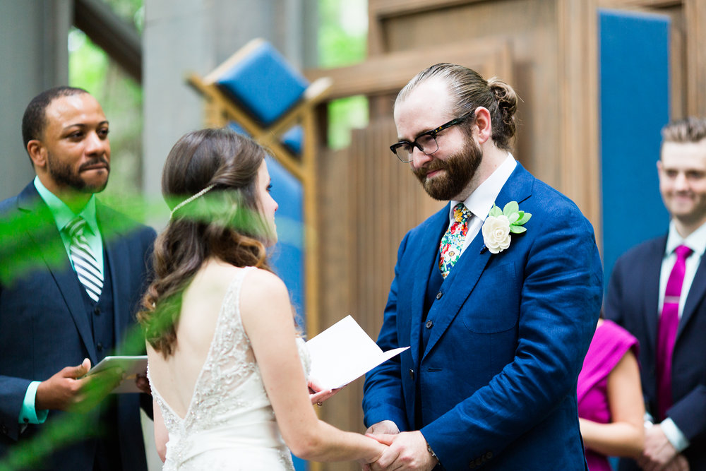 eureka springs wedding photographer thorncrown chapel groom crying