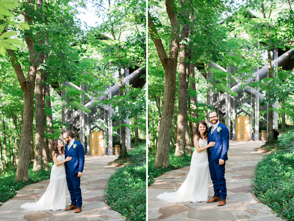 eureka springs wedding photographer thorncrown chapel