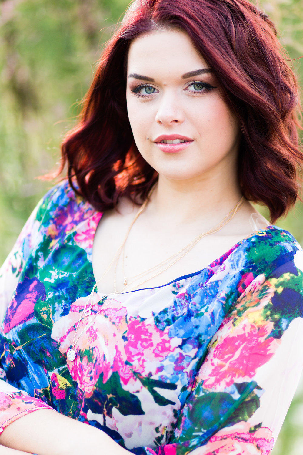 moore high school senior photographer red hair paseo district okc