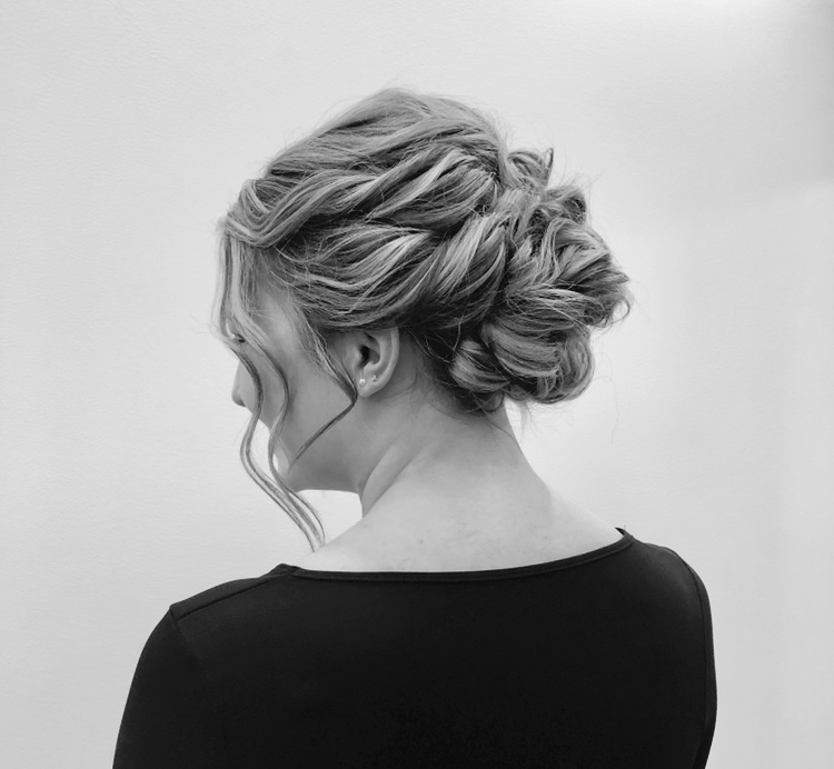 Bridal Updo   Customized bridal up style. Trial required.