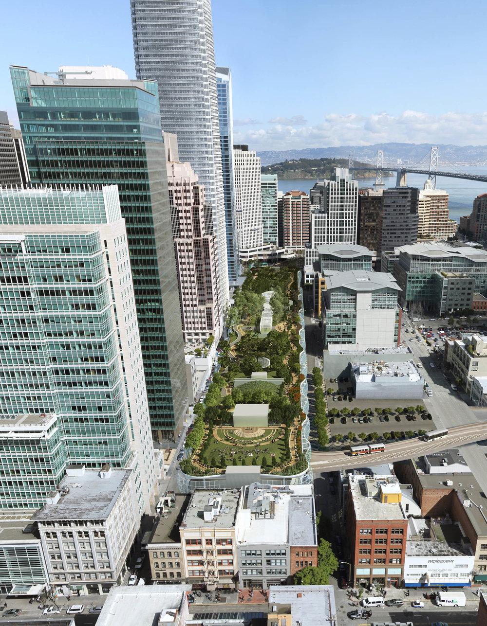 Aerial View of Park (rendering)