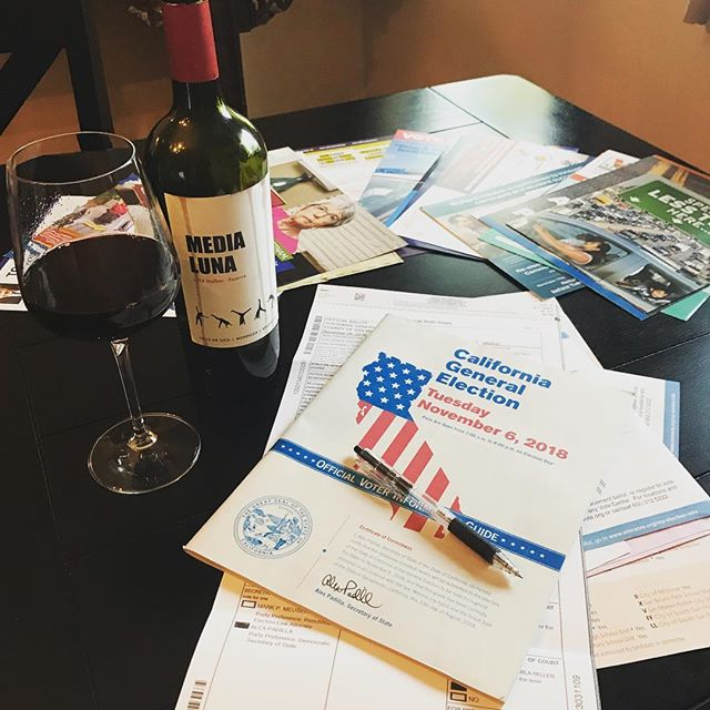 Voted! A glass of Malbec really helps - we got there! . . . #vote #voting #iVoted #ballot complete! #express #humanrights #nov6 #rockthevote  #electionday #electionnight #malbec #malbecargentino #wine will help! #winelover #winemaker #instagood #instawine #instavote #instavoting #letsdothis #cheers #salud