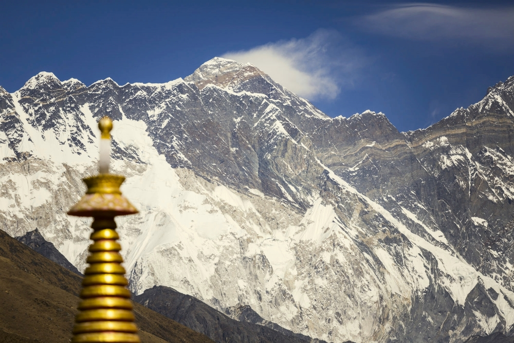 Everest from Rongbuk Monastery