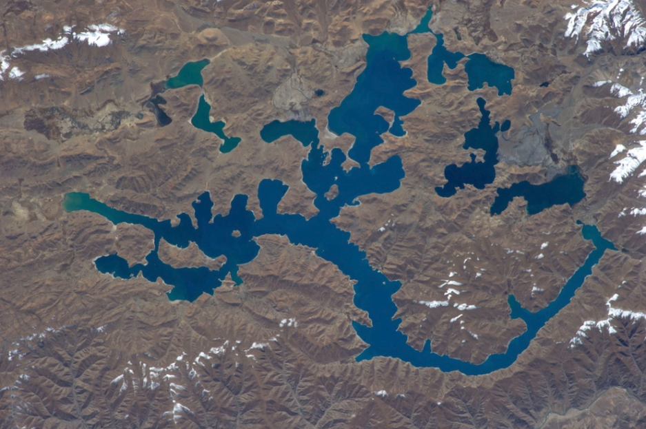Yamdrok Turquoise Lake from Space