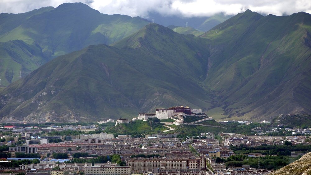 Potala and Lhasa View from Pabongka