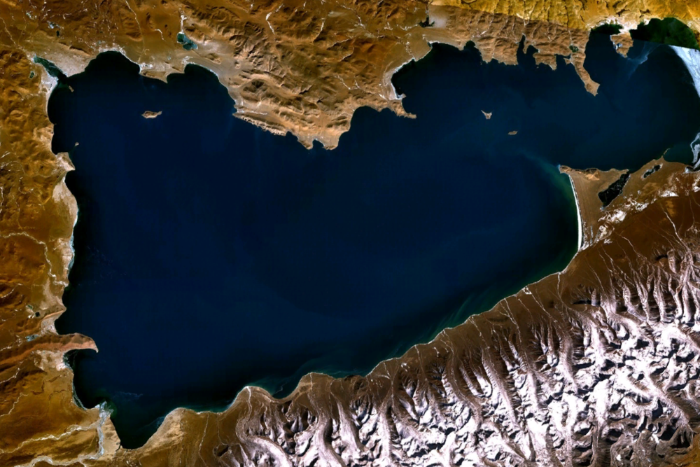 Namtso Lake. Courtesy of NASA.