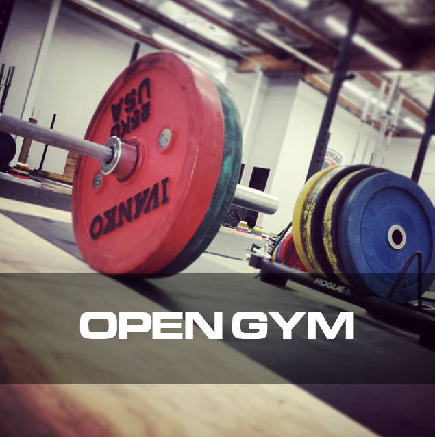 """The """"Open Gym"""" membership gives you access to our 5000 sq ft dedicated to weightlifting with 11 platforms, 16 squat/press racks, and competition rated equipment during non-class times for only $50 a month."""