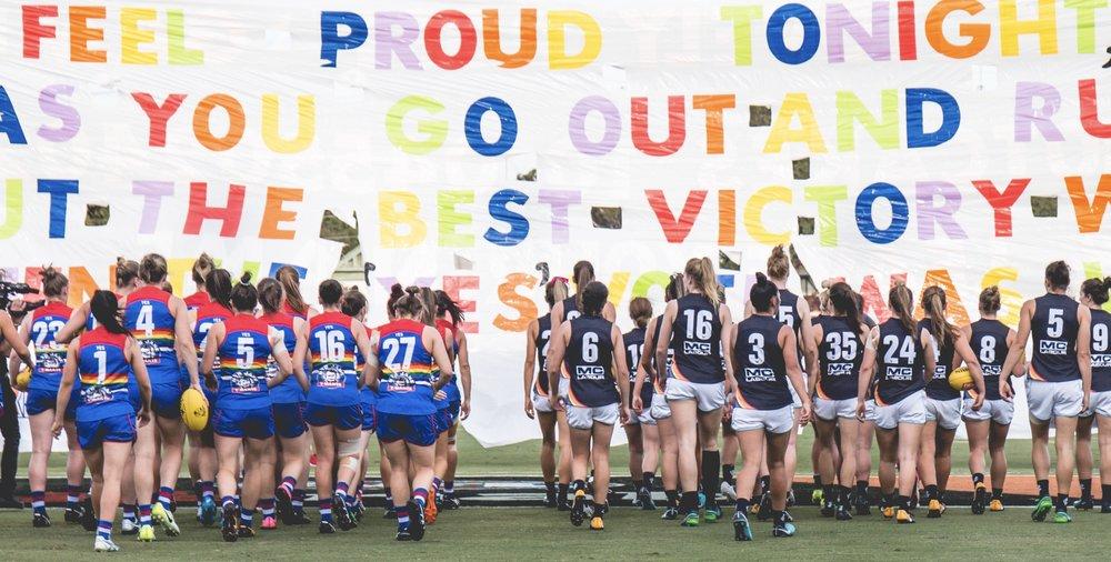 AFLW Pride Match, February 2018
