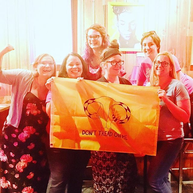 "Thank you so much to the folks who organized and attended the June Repro Health Happy Hour Columbus on Tuesday night! You generous humans raised $200 for the Pro Choice Cats billboard project. We're inching closer towards our $4,000 goal to pay for a month's worth of abortion positive messaging on an e-billboard near the Ohio Statehouse. The plan is to rent the billboard in September when the state's legislators return from their ""summer break."" But Pro Choice Cats isn't the only group working to raise money and send a strong pro-choice message in public. The Feminist Flag Corps are selling these awesome uterus flags to raise money for @whoohio!  You can buy a flag here: https://www.generosity.com/medical-fundraising/women-have-options-ohio  Or come make your own feminist flag at Wholly Craft on Thursday, June 16 at 6 PM. ""$10 gets you a large pink flag and an opportunity to shake up the system with your own art!"""