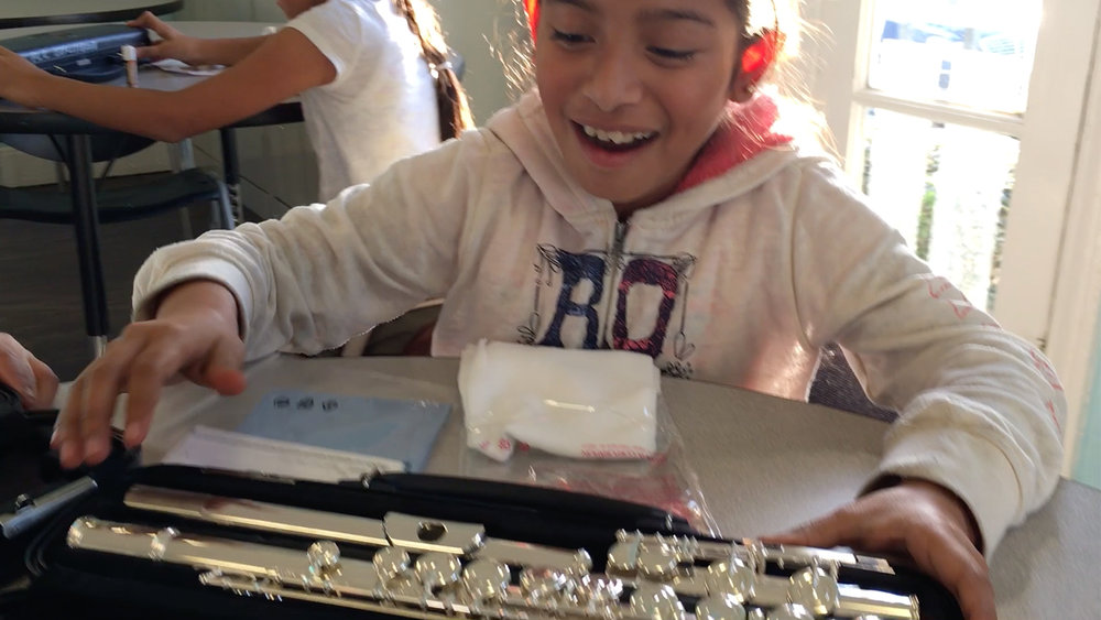 """""""I feel lucky because it's a free program and you get to experience music. Music makes someone relax and forget about the troubles in their life."""""""